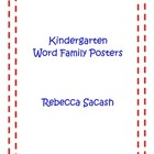 Kindergarten Word Family Posters - With Pictures!