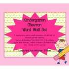 Kindergarten Word Wall Set: Chevron Design