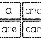 Kindergarten Word Wall Words, Black Dots