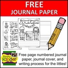 Kindergarten Writing Paper Free