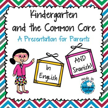 Kindergarten and the Common Core: A Presentation for Parents