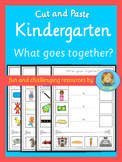 Kindergarten cut and paste activity - What goes together?