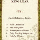 King Lear Quick Reference Pamphlet Bookmark