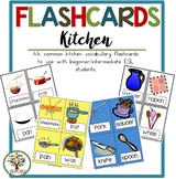 Kitchen & Meals {26 Flashcards & Games} ESL Adults & Grades 4-6