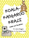 Koala Kangaroo Kraze {Labels, Craft and Newsletters} Print