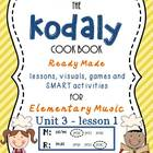Unit 3- lesson 1 Kodaly Cookbook {sol mi prep} {beat prac}