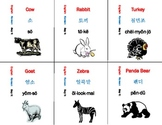 Korean Language MEGA Flash Cards - 276 countries colors sh