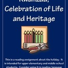 Kwanzaa, Celebration of Heritage Reading Assignment + Crit