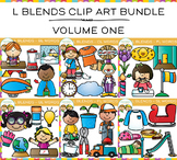 L Blends Clip Art  Bundle- All L Blends