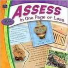LANGUAGE ARTS: Assess in One Page or Less (Reading & Writing)