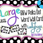 LARGE B & W Polka Dot with Ladybugs Word Wall Words {Editable}