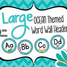 LARGE Ocean Themed Word Wall Headers {Two Size Choices}
