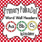 LARGE Primary Polka Dot Wall Headers {Two Size Choices}