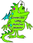 LETTER MUNCHERS uppercase/lowercase letter matching game