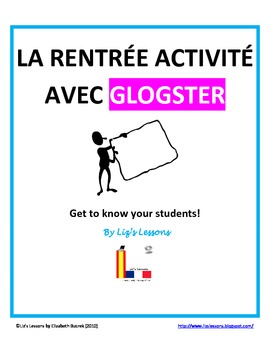 La Rentree Activite avec Glogster/French Back to School Activity