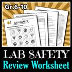 Lab Safety - Review Worksheets