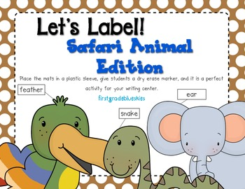 Label It! Safari Animal Edition