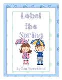 Label the Spring Writing Journal