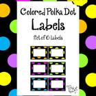 Labels - Colored Polka Dot