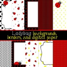 Ladybug Backgrounds, Borders, and Digital Paper