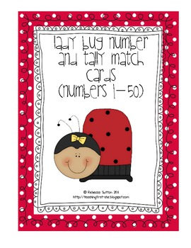 Ladybug Number and Tally Mark Matching Cards