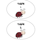 Ladybug Theme Table Numbers 1-6