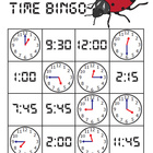 Ladybug Time Bingo - QUARTER HOUR Version