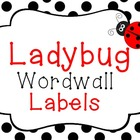 Ladybug Word Wall Labels