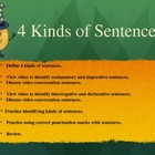 Language Arts  -  4 Kinds of Sentences Power Point Presentation