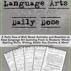 Language Arts Daily Dose Grade 6 {Weeks 5-8}