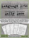 Language Arts Daily Dose {Weeks 5-8}