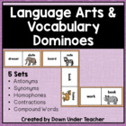 Language Arts Dominoes - Antonyms, Synonyms, Homophones, more