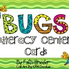 Language Arts - Literacy Center Bug Cards