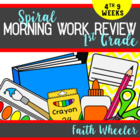 Language Arts & Math - 1st Grade Morning Work (4th 9 Weeks)