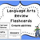 Language Arts Review Flashcards!!! CCSS!!