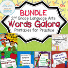 Language Arts Second Grade Printables BUNDLE