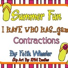 Language Arts - Summer Fun Flip Flop Contractions