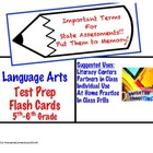 Language Arts Terms: 5th and 6th Grade Test Prep Flash Cards