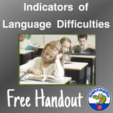 Language Difficulty Indicators Handout