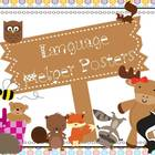 Language Helper Posters (Furry Friends) 2nd through 5th Grade