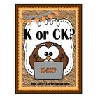K or CK at the End of a Word- (Common Core Reading: Founda