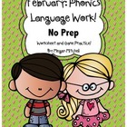 Phonics & Language NO PREP-Word Work-February