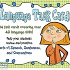 Language Skills Task Cards