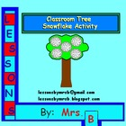 Large Classroom Tree snowflake activity