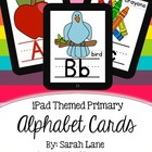 Large Primary Alphabet Cards {iPad Theme}
