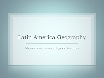 Latin America Geography Review