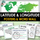 Latitude & Longitude Vocabulary Poster and Word Wall Set