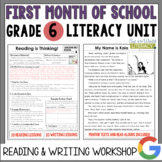 Launching the Reader's & Writer's Workshops: Grade 6...40