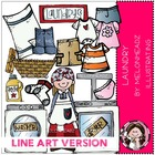 Laundry LINE ART bundle by melonheadz