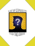 Law of Exponents - Find the Error